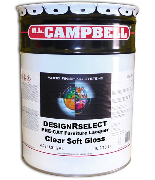 ML Campbell DesignRselect Furniture Pre-Cat Lacquer Clear Soft Gloss 5 Gallons