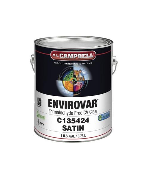 ML Campbell EnviroVar Formaldehyde Free Conversion Varnish Clear Dull 5 Gallons