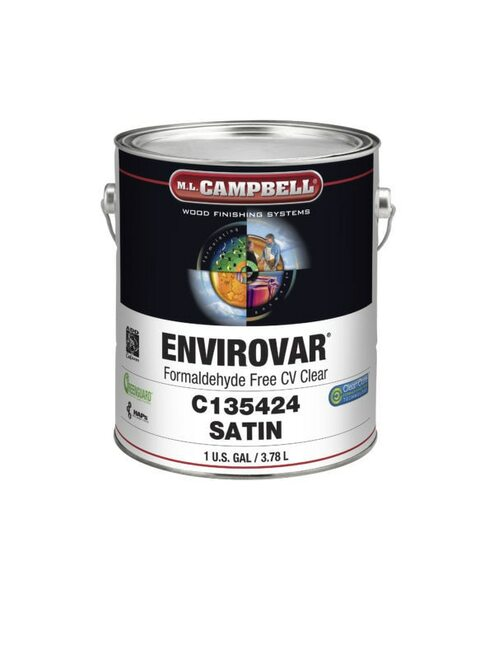 ML Campbell EnviroVar Formaldehyde Free Conversion Varnish Clear Satin 5 Gallons