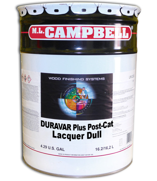 ML Campbell Duravar Plus Post Catalyzed Lacquer Dull 5 Gallons