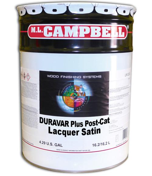 ML Campbell Duravar Plus Post Catalyzed Lacquer Satin 5 Gallons