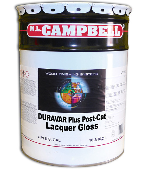 ML Campbell Duravar Plus Post Catalyzed Lacquer Gloss 5 Gallons