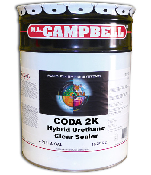 ML Campbell Clean CODA 2K Hybrid Urethane Clear Sealer 5 Gallons