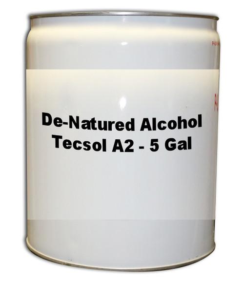Professional Wood Finish De-Natured Alcohol (Tecsol A2) 5 Gallons