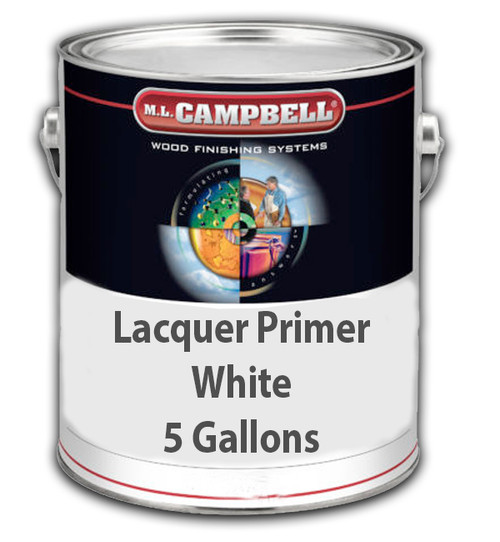 Professional Wood Finish Lacquer Primer White 5 Gallons