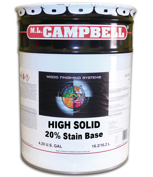ML Campbell High Solid 20% Stain Base 5 Gallons