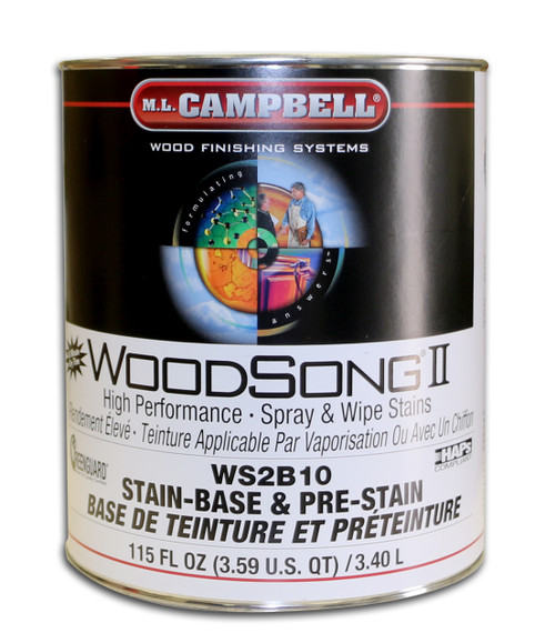 ML Campbell WoodSong II NGR Stain Base Gallon