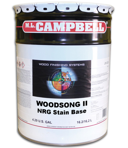 ML Campbell WoodSong II NGR Stain Base 5 Gallons