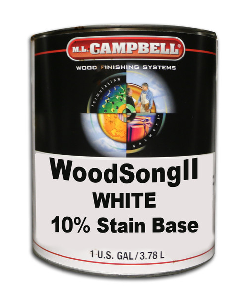 ML Campbell White Woodsong II 10% Stain Gallon