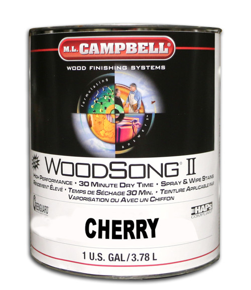 ML Campbell Cherry Woodsong II Stain Gallon
