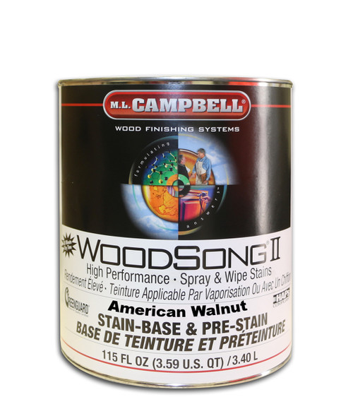 American Walnut Woodsong II 10% Stain Gal ML Campbell Wood Finishing