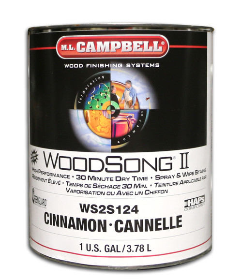 ML Campbell Cinnamon Woodsong II 10% Stain Gallon