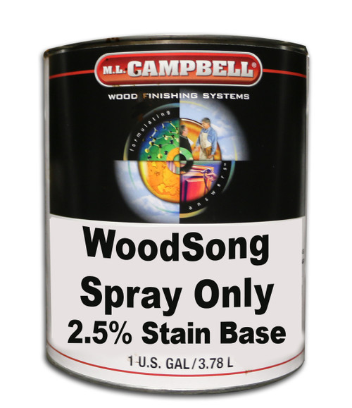 Professional Wood Finish Spray Only 2.5% Stain Base Gallon