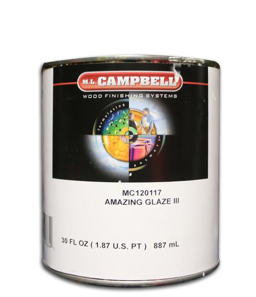 ML Campbell Wood Finishing Amazing Glaze III Clear Tint Base Quart