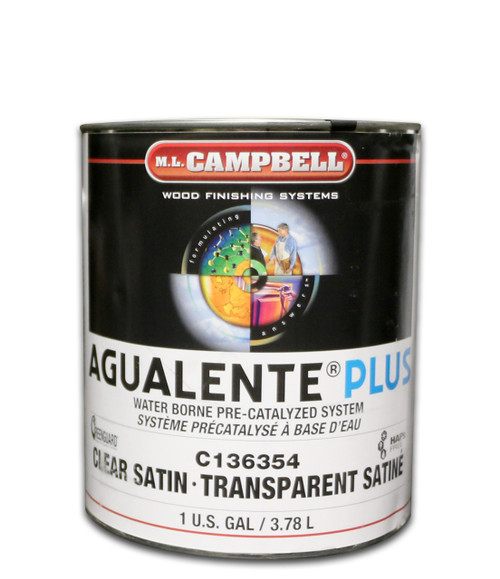ML Campbell Agualente Plus Clear Satin Precat Gallon
