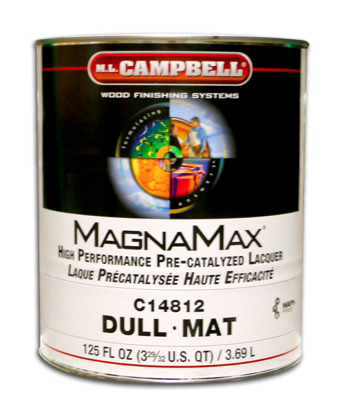 Magnamax Clear Pre-Catalyzed Lacquer Dull Gallon ML Campbell Wood Finishing