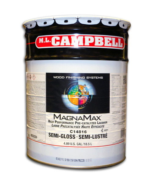 ML Campbell Magnamax Clear Pre-cat Lacquer Semi-Gloss 5 Gallons