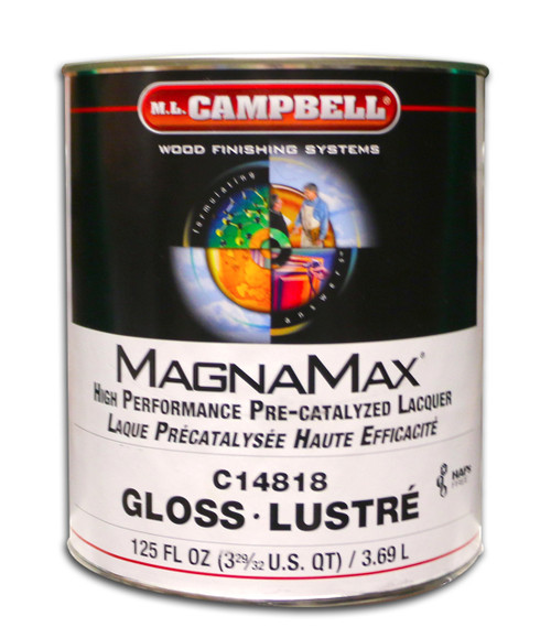 Magnamax Clear Pre-Catalyzed Lacquer Gloss Gallon ML Campbell Wood Finishing Systems