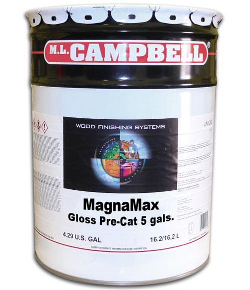 Magnamax Clear Pre-Catalyzed Lacquer Gloss 5 Gallons ML Campbell Wood Finishing