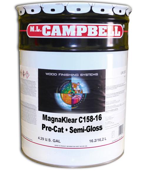 ML Campbell Magnaklear Clear  Pre-cat Semi-Gloss 5 Gallons