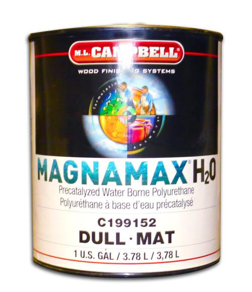 MagnaMax H2O Pre-Catalyzed Waterborne Polyurethane Dull Gallon ML Campbell Wood Finishing