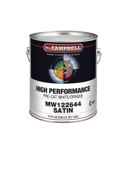 ML Campbell HP White/ Opaque Pre-Cat Lacquer Dull 5 Gallons