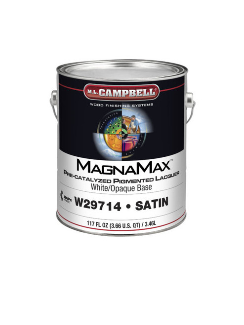 ML Campbell Magnamax White/ Opaque Pre-cat Lacquer Satin 5 Gallons