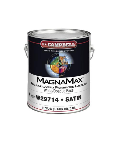 ML Campbell Magnamax White/ Opaque Pre-cat Lacquer Semi-Gloss Gallon