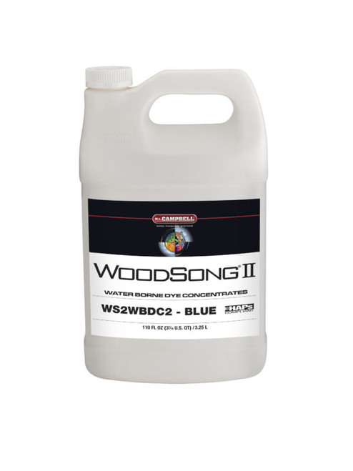 Professional Wood Finish Blue Dye Concentrate Gallon