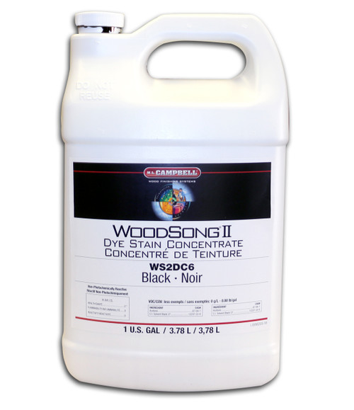 Black Dye Concentrate Gallon ML Campbell Wood Finishing