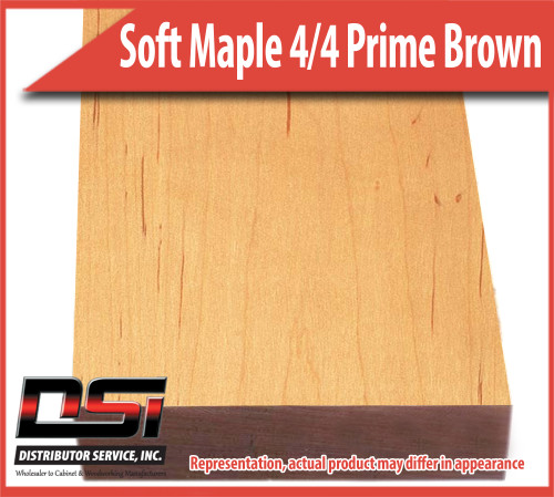 "Domestic Hardwood Lumber Soft Maple 4/4 Prime Brown 15/16"" 9'-10'"
