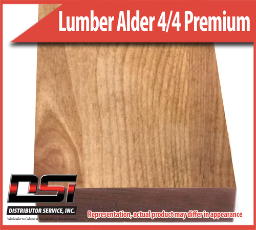 "Domestic Hardwood Lumber Alder 4/4 Premium Frame 15/16"" 10'"