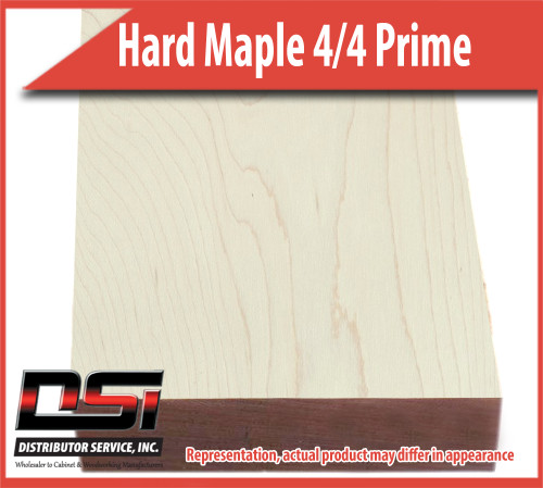Domestic Hardwood Lumber Hard Maple 4/4 Prime #1&2 White 15/16 8'