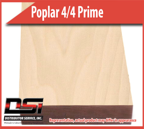 "Domestic Hardwood Lumber Poplar 4/4 Prime 13/16"" S2S 9'-10' SLR1E"