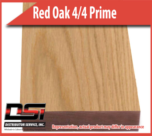 "Domestic Hardwood Lumber Red Oak 4/4 Prime Color Sort 15/16"" 8'"