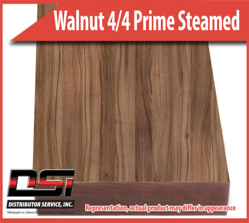 "Domestic Hardwood Lumber Walnut 4/4 Prime Steamed 15/16"" 8'"