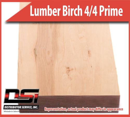 "Domestic Hardwood Lumber Birch 4/4 Prime Sap 15/16"" 8'"
