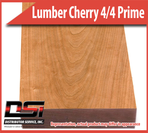 """Domestic Hardwood Lumber Cherry 4/4 Select and Better 90/50 Red 15/16"""" 7'"""