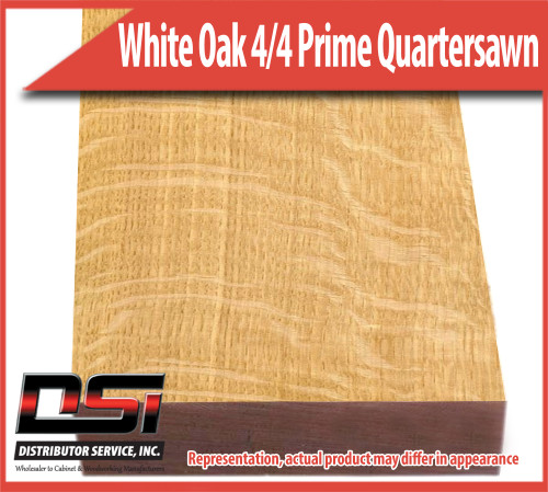 "Domestic Hardwood Lumber White Oak 4/4 Prime Quartersawn 15/16"" 8'"
