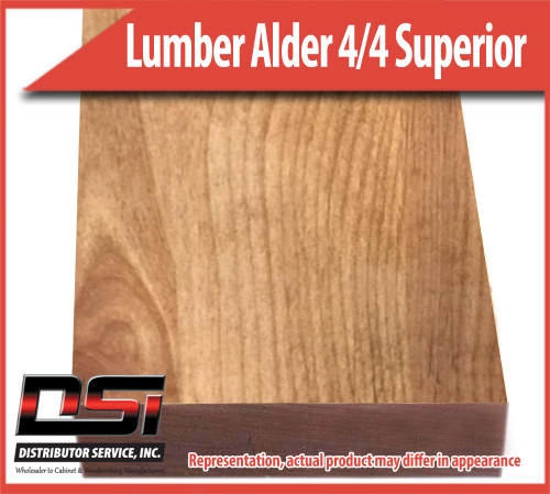 "Domestic Hardwood Lumber Alder 4/4 Superior 15/16"" 12'"