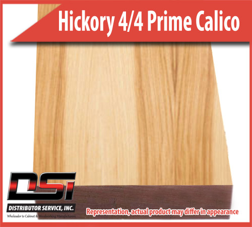 "Domestic Hardwood Lumber Hickory 4/4 Prime Calico 15/16"" 8'"