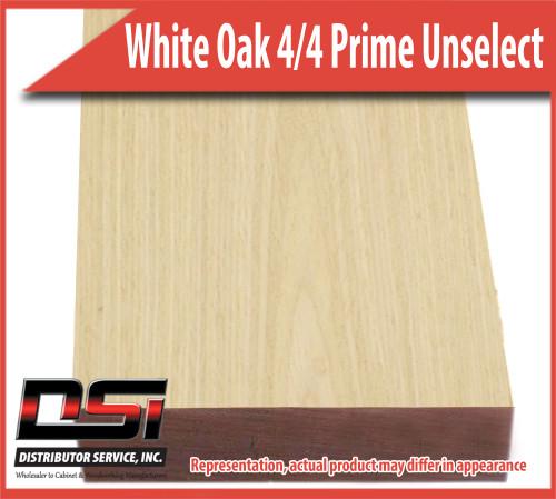 "Domestic Hardwood Lumber White Oak 4/4 Prime Unselectedect 15/16"" 8'"