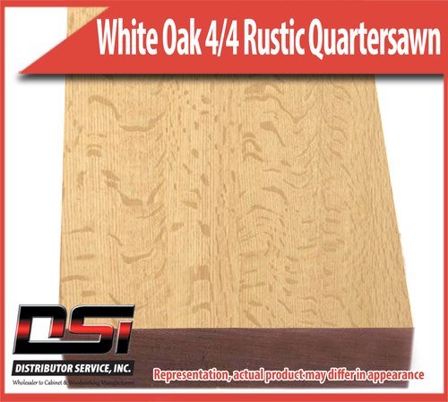 "Domestic Hardwood Lumber White Oak 5/4 Rustic Quartersawn 1-3/16"" 12'"
