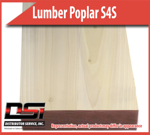 "Domestic Hardwood Lumber Poplar S4S 3/4"" X 7 1/4"" X 12'"