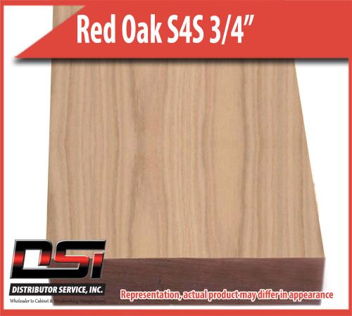 "Domestic Hardwood Lumber Red Oak S4S 3/4"" X 5 1/2"" X 8'"