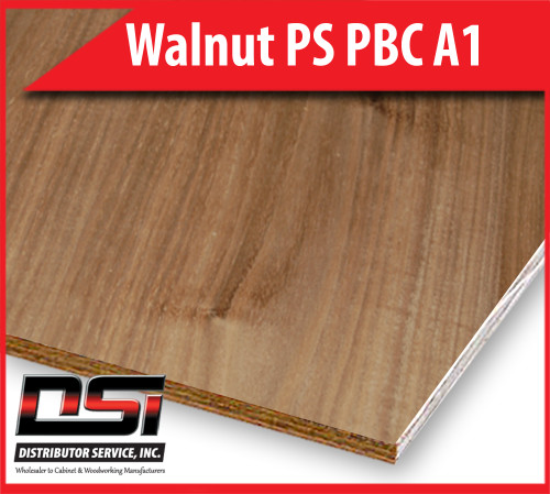 Walnut Plywood PS PBC A1 - Domestic Plain Sliced, Particle Board Core Hardwood Plywood