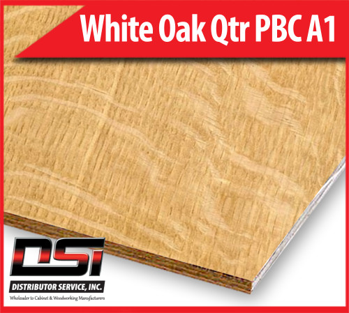 White Oak Plywood Qtr PBC A1 - Domestic Quarter Sawn, Particle Board Core Hardwood Plywood