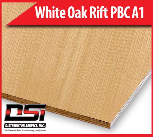 White Oak Plywood Rift Cut PBC A1 - Domestic Quarter Sawn, Particle Board Core Hardwood Plywood