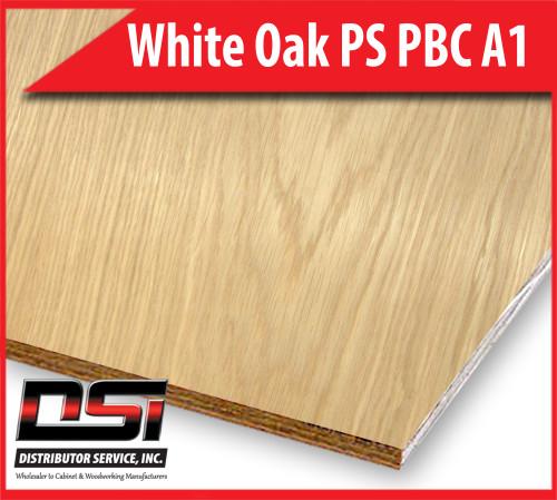 "White Oak Domestic Hardwood Plywood 3-4""x4x8 Plain Sliced Particleboard Core A1 DSI Wholesale"