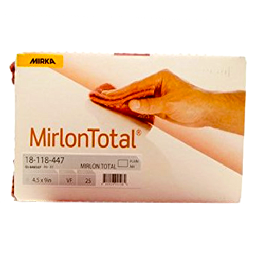 "Mirlon Scuff Pad Gray 25 Pads/Pack 4-1/2"" x 9"" MK-18-118-448"